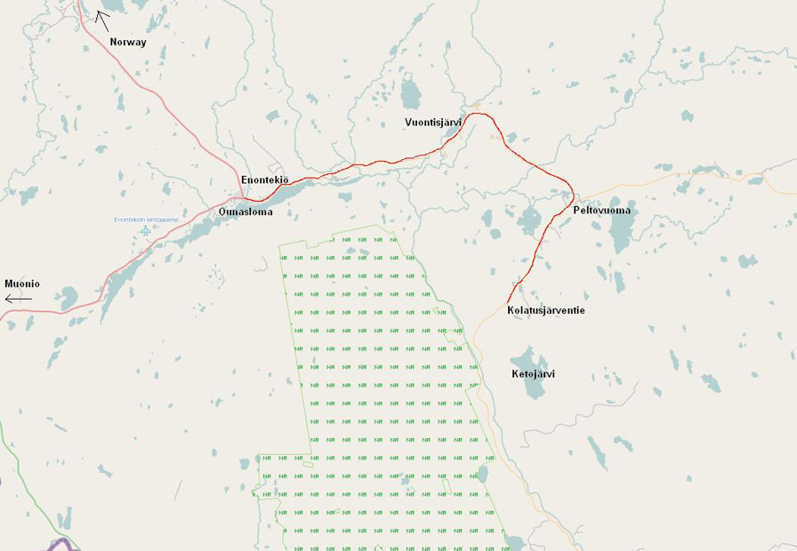 Kartta Ketojarvelle Huvilakyla Ounasloma
